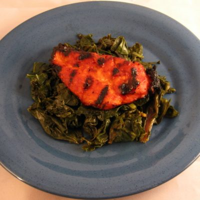 Dark Days Challenge: Fiery Chicken and Greens