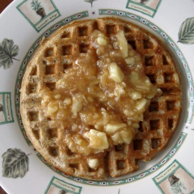 Apple Spice Waffles with Apple Topping
