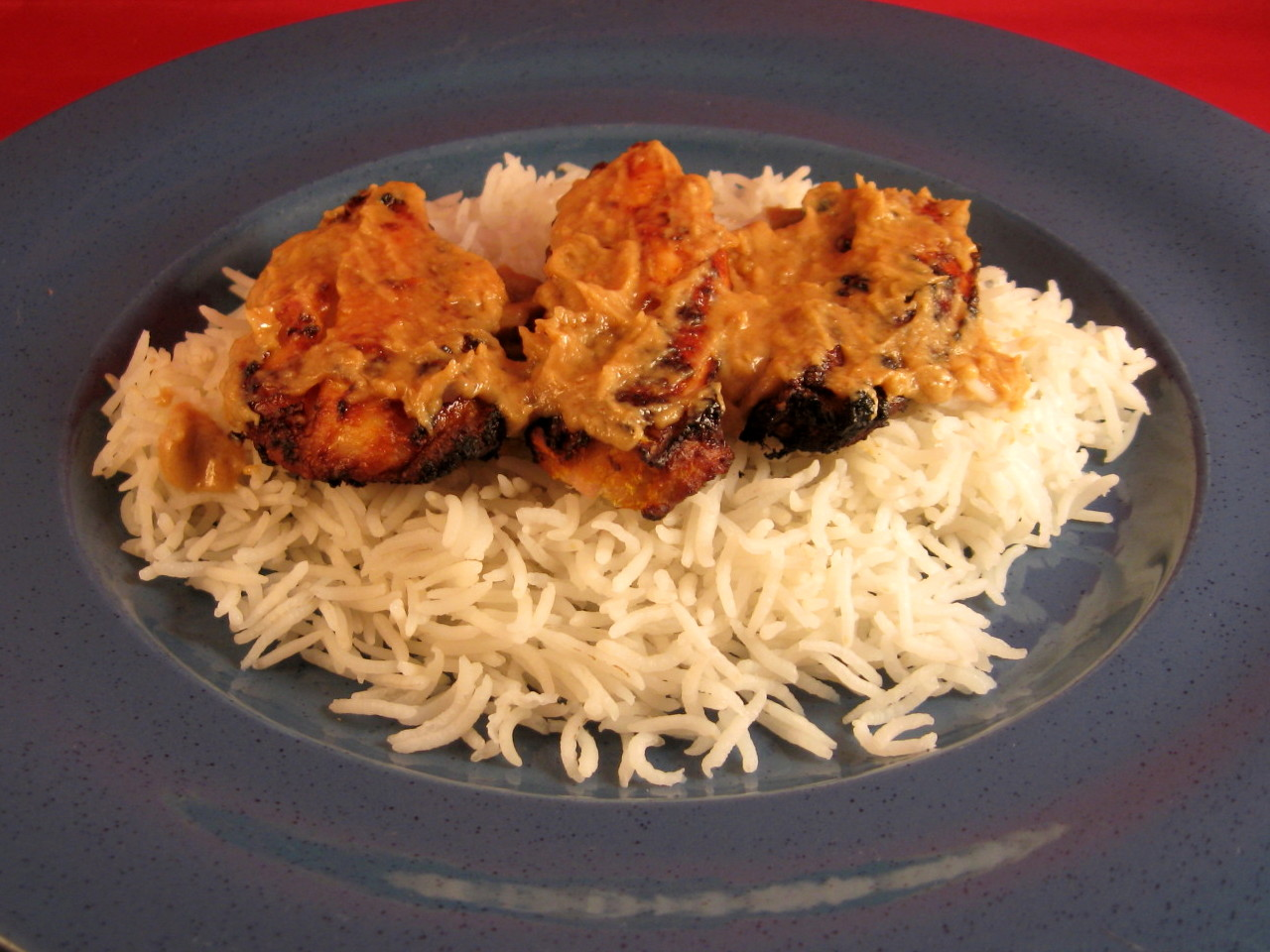 how to make chicken satay without a grill