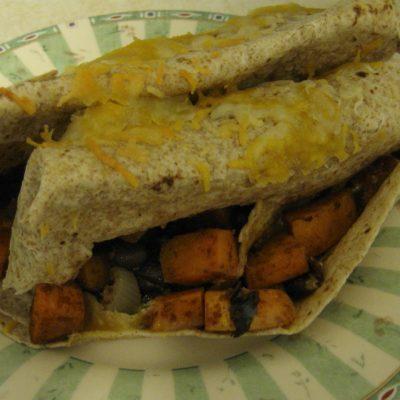 Black Bean Sweet Potato Burritos