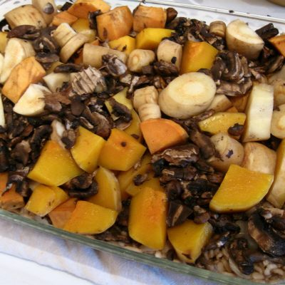 Wild Rice Vegetable Bake #SundaySupper
