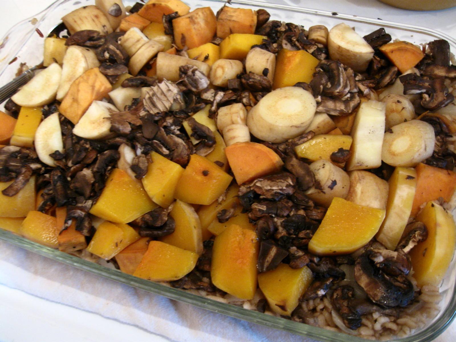 Wild Rice Vegetable Bake #SundaySupper