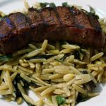 Venison with Swiss Chard Orzo