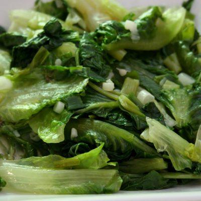 Braised Lettuce for One