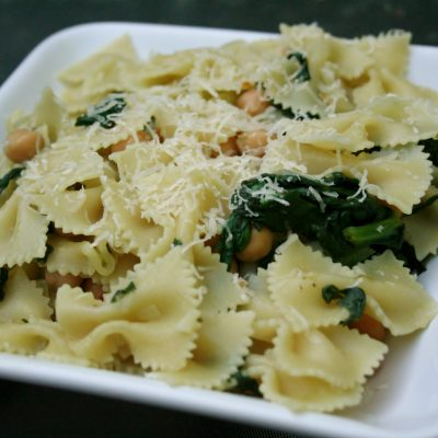 Spring Pasta with Greens and Chickpeas
