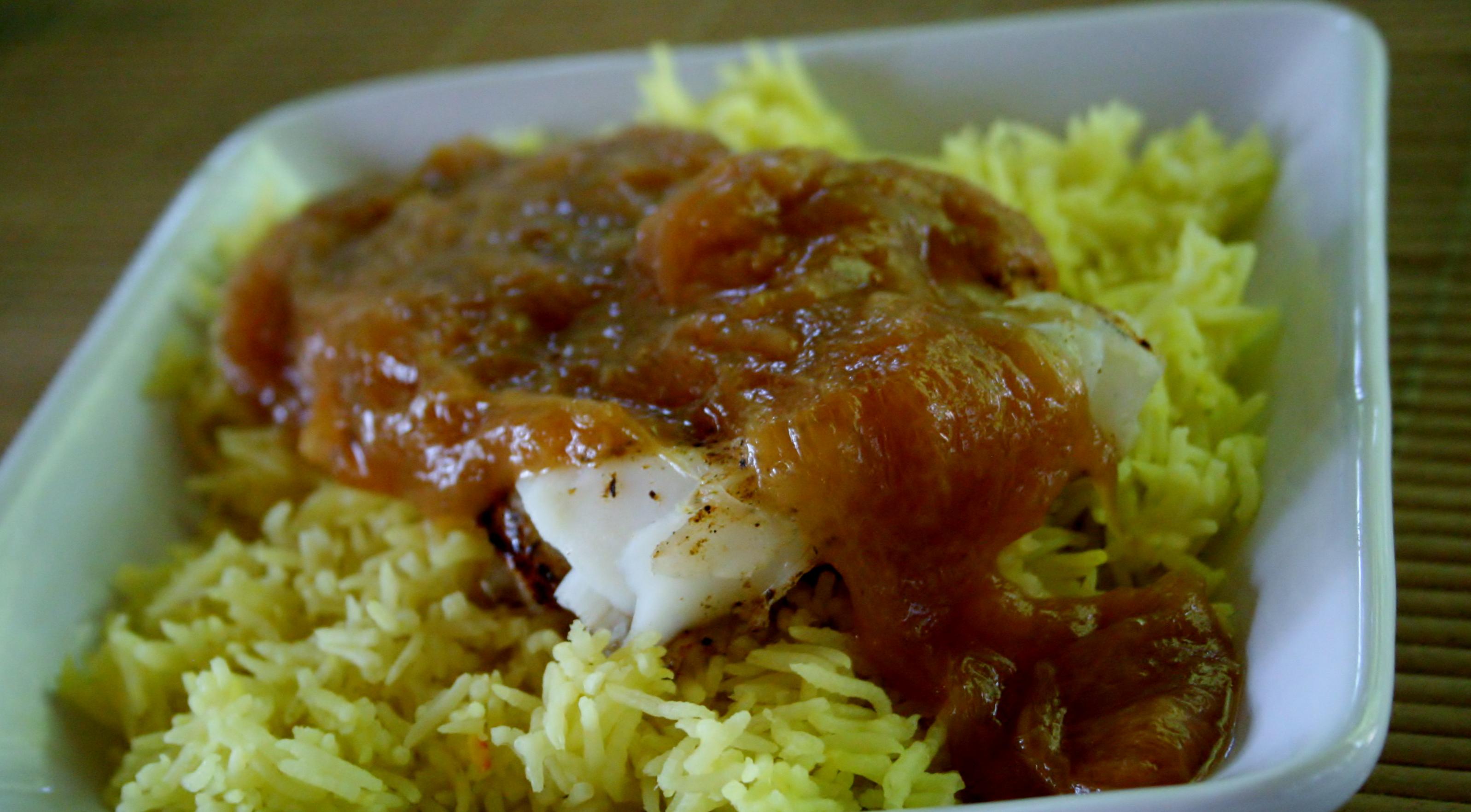 Rhubarb Sauce on Fish: FAIL!