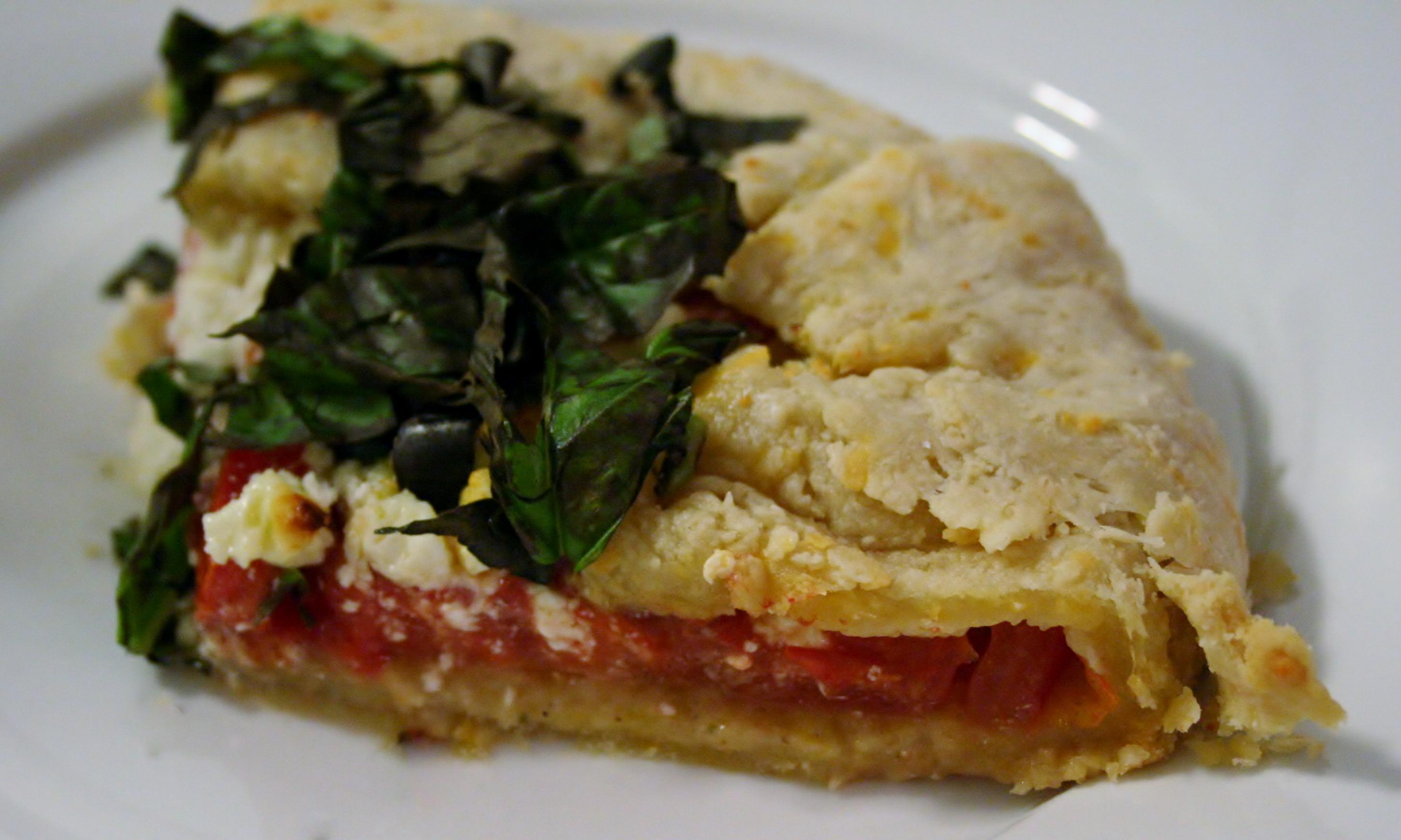 Plum Tomato Pie {Really a Galette}
