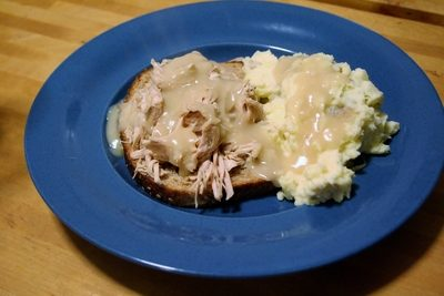 Slow Cooker Open-Faced Turkey Sandwich
