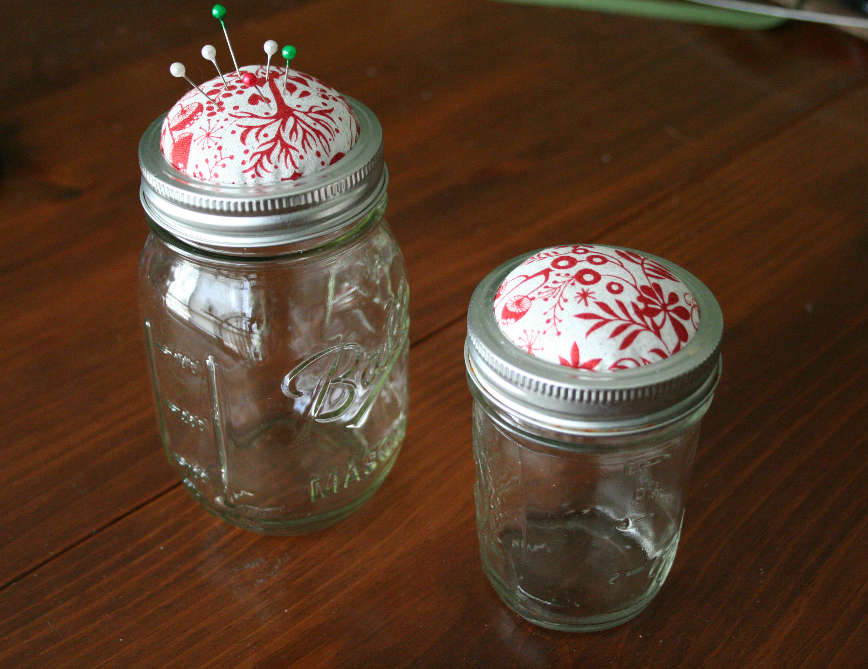 Canning Jar Pincushions