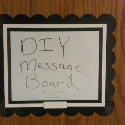 DIY Office Door Message Board