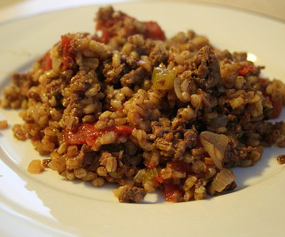 Beef-Barley Skillet