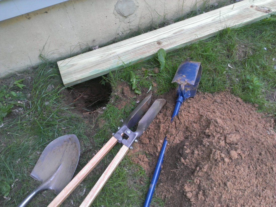 Digging post holes - my primary job