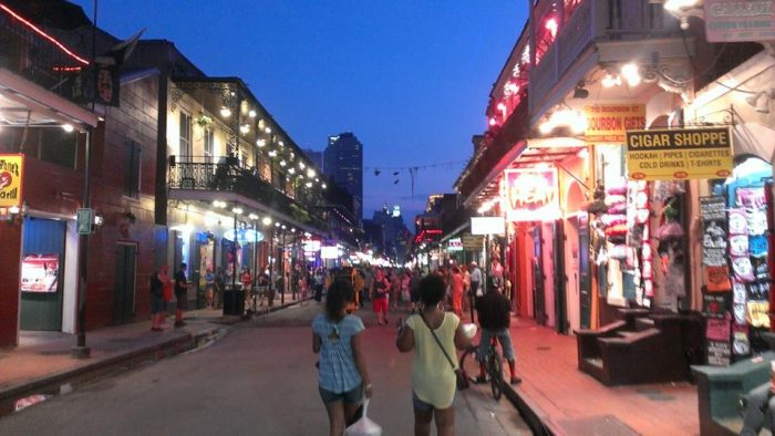 Bourbon Street - be glad we don't have smell o vision.