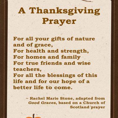 A Thanksgiving Prayer