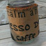 Burlap Mason Jar Cozy Misadvantures