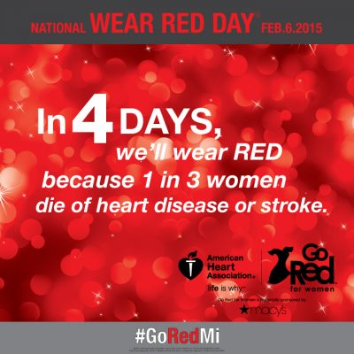 Wear Red on Friday (Feb 6) and Help Save Women's Lives!