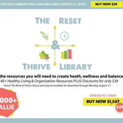 Reset Your Health for the New School Year with the Reset & Thrive Library