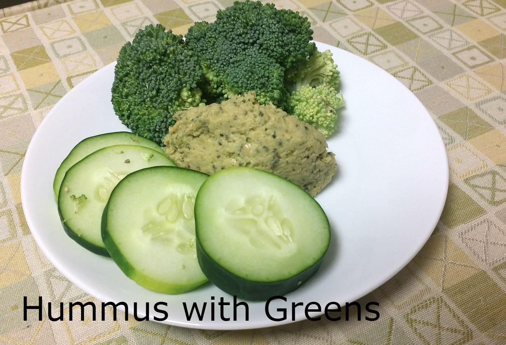 Hummus with Greens