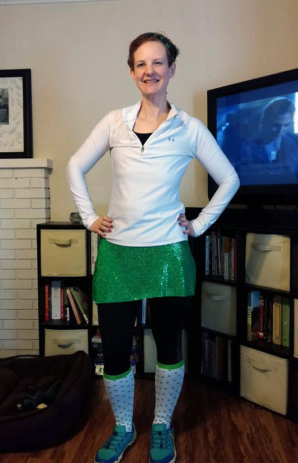 DIY Sparkly Running Skirt
