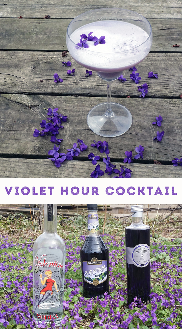This violet-inspired cocktail is the perfect welcome to spring.