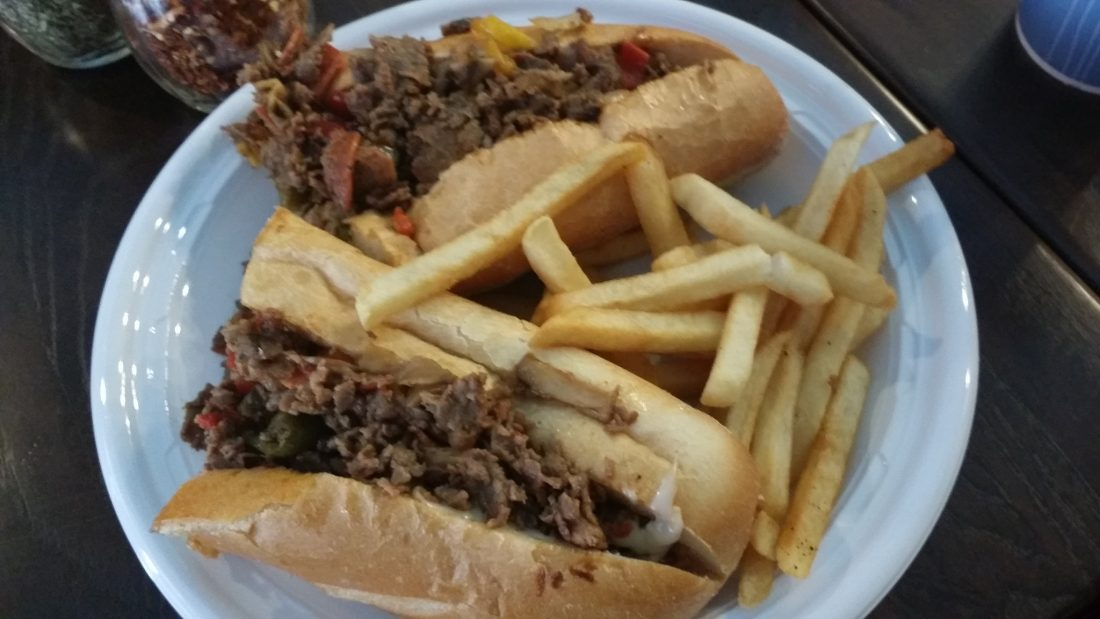 and a cheesesteak (I could only eat about a quarter of this!)