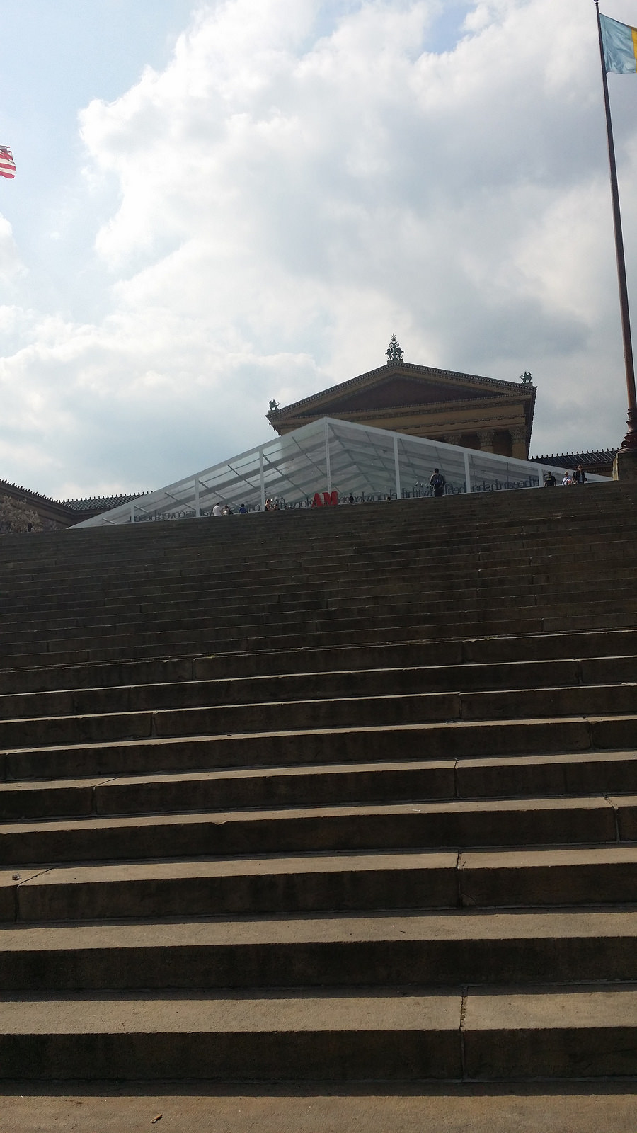 and a lot of stairs