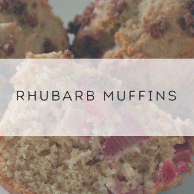 Rhubarb Muffins #SundaySupper