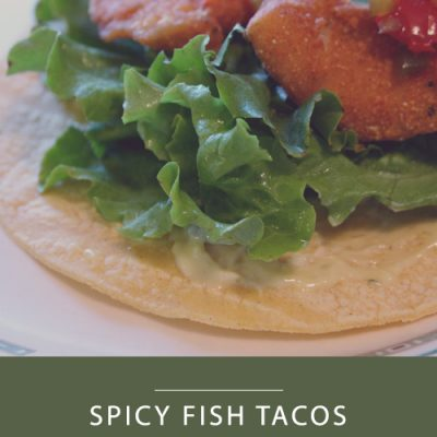 Spicy Fish Tacos with Garlic-Chive Aioli #SundaySupper