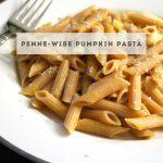 Penne-Wise Pumpkin Pasta for #SundaySupper