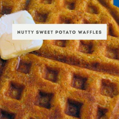 Nutty Sweet Potato Waffles for #SundaySupper
