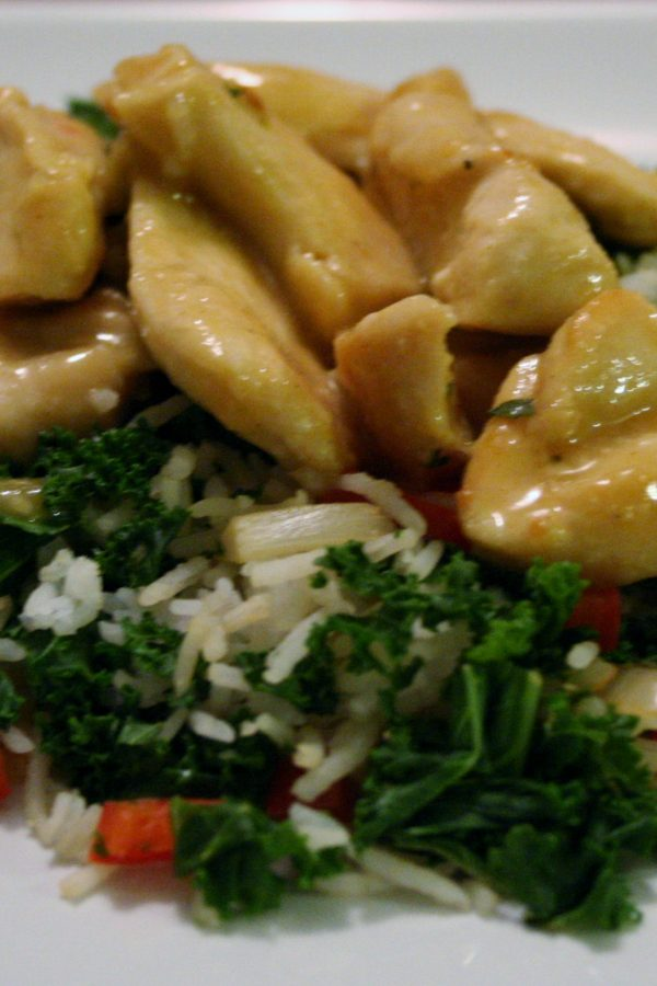 Honey Mustard Chicken & Rice Pilaf for #SundaySupper