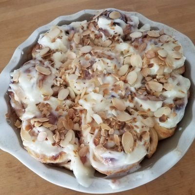 Strawberry Rhubarb Almond Rolls #BrunchWeek