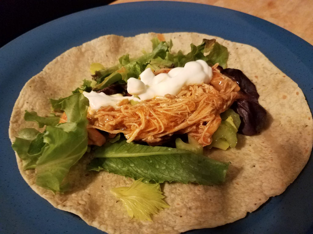#InstantPot Buffalo Chicken Wraps
