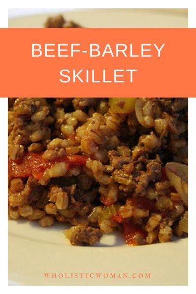 Beef-Barley Skillet #SundaySupper