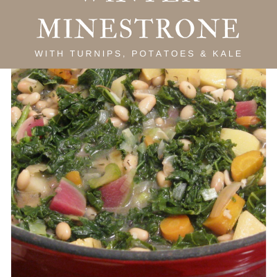 Winter Minestrone with Turnips, Potatoes, and Kale #SundaySupper